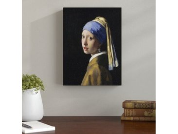 Leinwandbild Das Mädchen mit dem Perlenohrgehänge von Johannes Vermeer