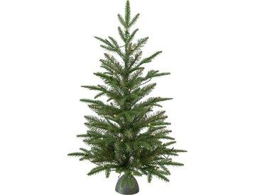 Künstlicher Weihnachtsbaum 90 cm Grün mit 30 LED-Leuchten in Klar/Weiß und Ständer Tippy