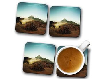 Glasuntersetzer-Set Landscape Volcano Iceland