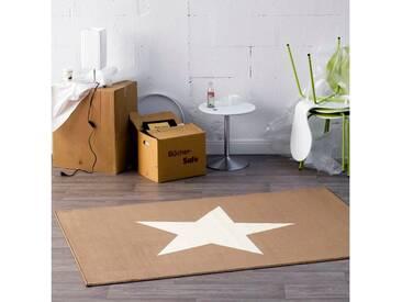 Teppich Star in Braun