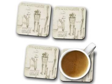 Glasuntersetzer-Set Leonardo da Vinci Anatomy 7