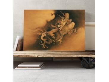 Leinwandbild Japanese Oriental Dragon Kunstdruck von Kano Masanobu
