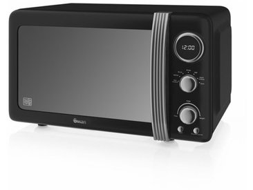 Retro 800W Digitale Mikrowelle