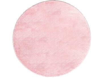 Teppich  Unifarben in Rosa