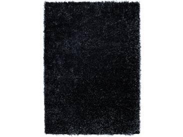 Handgetufteter Teppich Cool Glamour in Schwarz