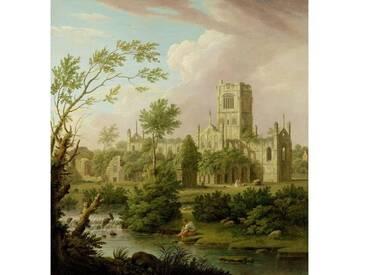 """Poster """"Kirkstall Abbey, Yorkshire, 1747"""" von George Lambert, Kunstdruck"""