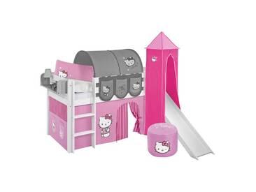 Hochbett Hello Kitty mit Textil-Set, 90cm x 200cm