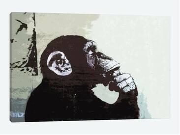 Leinwandbild The Thinker Monkey von Banksy
