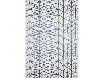 Flachgewebe-Teppich Velda in Blau
