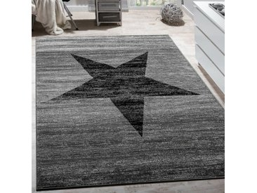 Handgefertigter Kelim-Teppich Bealle in Grau/Schwarz