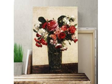 "Leinwandbild ""Roses and Asters"" Kunstdruck von Henri Fantin-Latour"