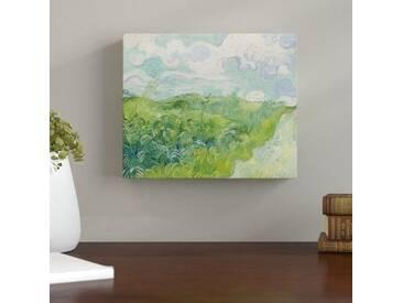 Leinwandbild Grünes Weizenfeld mit Zypresse von Vincent van Gogh