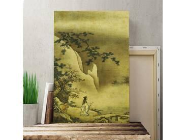 Leinwandbild Landscape Japanese Oriental Kunstdruck von Kano Masanobu