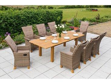 8-Sitzer Gartengarnitur Toskana mit Polster