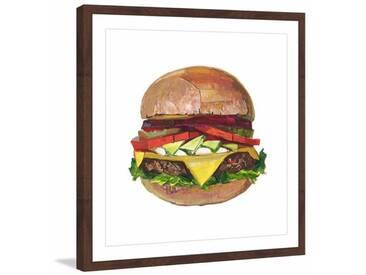 Gerahmtes Poster Ultimate Burger von Eyre Tarney