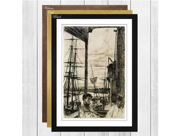 Gerahmtes Poster Rotherhithe von James Abbott McNeill Whistler