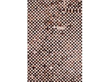Handgefertigter Teppich Gwyneth aus Kuhfell in Braun/Beige