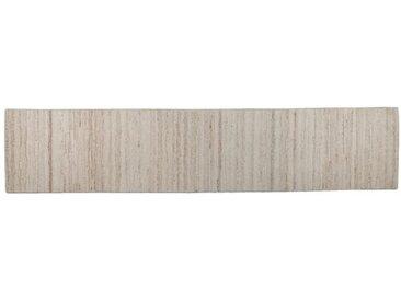 Handgefertigte Bettumrandung Natural Melange aus Wolle in Beige