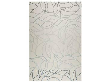 Handgefertigter Teppich Tenya aus Wolle in Grau