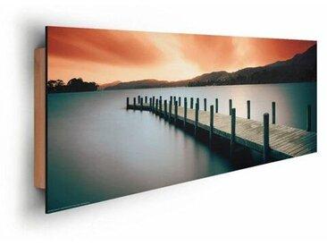 Deco Panel 'Lange Holzsteg', Fotodruck