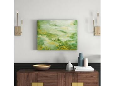 Leinwandbild Abstract Green and Gold von Tre Sorelle Studios