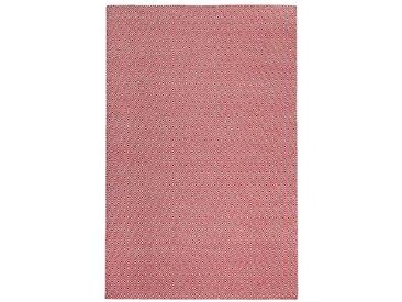 Handgefertigter Kelim-Teppich Craighead aus Wolle in Rot