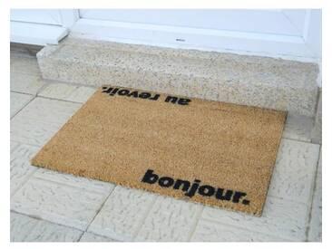 Kokosmatte Bonjour Au Revoir
