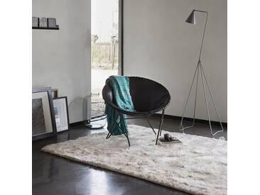 Handgetufteter Teppich New Glamour in Grau