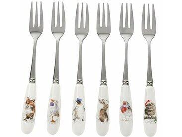 6-tlg. Dessertgabel-Set Wrendale Designs