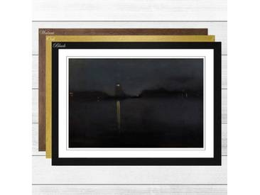 Gerahmtes Poster Nocturne von James Abbott McNeill Whistler