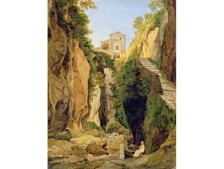 Kunstdruck Ravine at Sorrento, 1823 von Heinric...