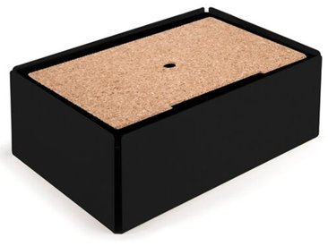 Kabelbox aus Stahlblech / Kork