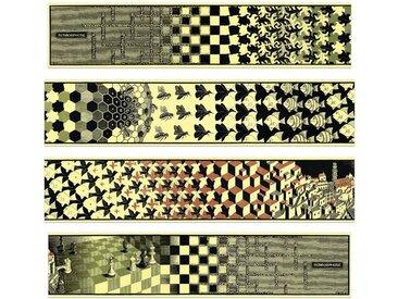 4-tlg. Leinwandbilder-Set Metamorphosis II von M. C. Escher