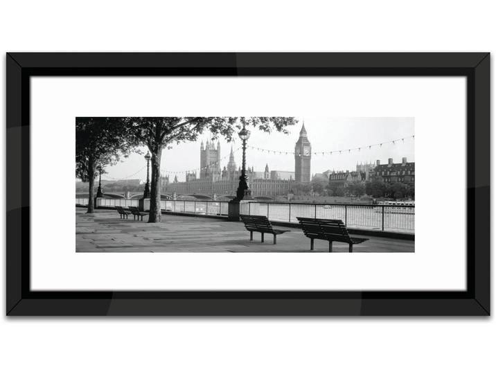 Gerahmtes Poster Studio Thames Big Ben London, ...