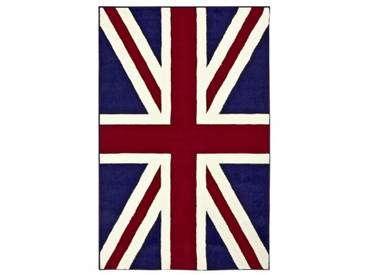 Teppich Union Jack in Blau/Rot