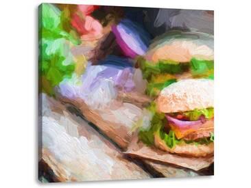 LeinwandbildLeckere Burger