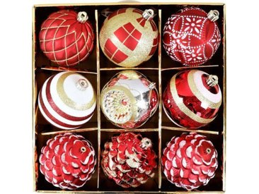 9-tlg. Weihnachtsbaumkugeln-Set