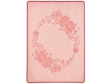 Teppich  Blumenkranz in Rosa