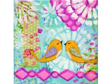 "Leinwandbild ""Two Birds"" von Jill Lambert, Kunstdruck"