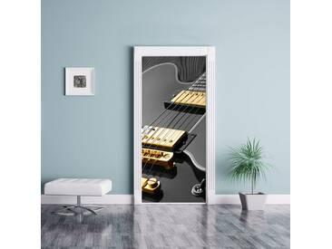 Türaufkleber Elegante E-Gitarre