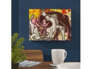"Leinwandbild ""Horses and Spanish Bull"" von Pablo Picasso, Kunstdruck"