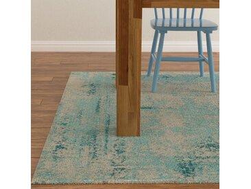 Teppich Vintage in Lagunenblau