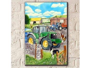 Wanddekoration John Deere Traktor