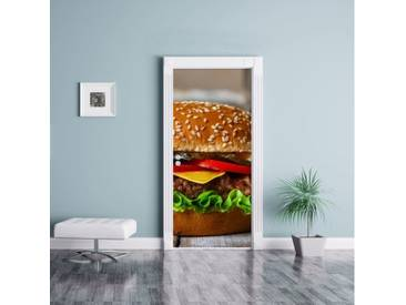 Türaufkleber Burger Hamburger Cheeseburger Käse Fast Food