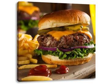 LeinwandbildSaftiger Chili Cheese Burger