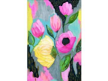 """Leinwandbild """"Bold Flowers"""" von Jill Lambert, Kunstdruck"""
