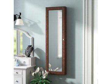 Piqua Wandmontierter Schmuckschrank mit Spiegel