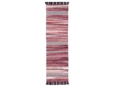 Bloomington Handgefertigter Kelim-Teppich aus Baumwolle in Rosa