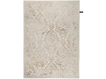 Handgefertigter Teppich Dip Dye aus Wolle in Beige