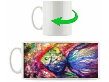 Kaffeebecher Regenbogenfarbener Fisch